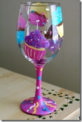 cupcake wine glass